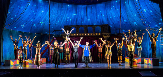 Cast of the US national touring production of 'Pippin'. Photograph by Terry Shapiro