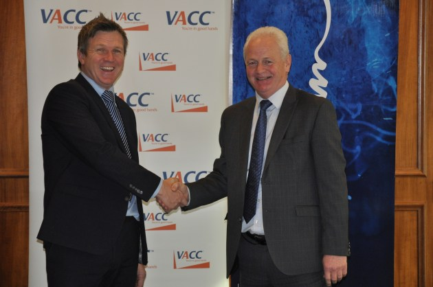 Chisholm CEI Stephen Varty and Geoff Gwilym CEO VACC