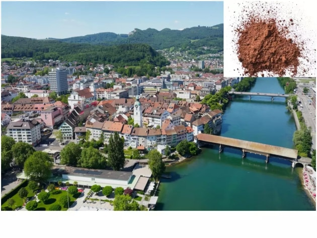 A Swiss town was covered in cocoa 'snow'