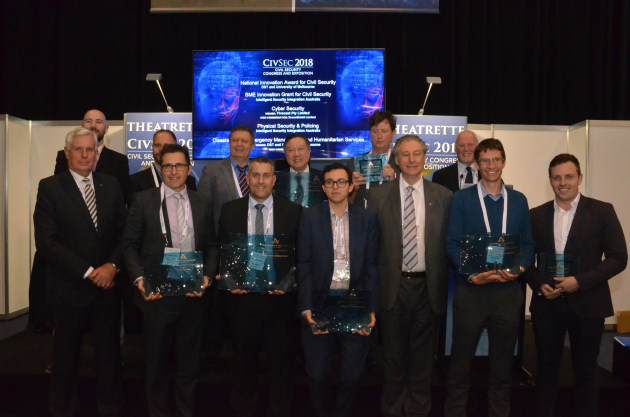 CIVSEC 2018's Innovation Awards winners. ADM/David Jones