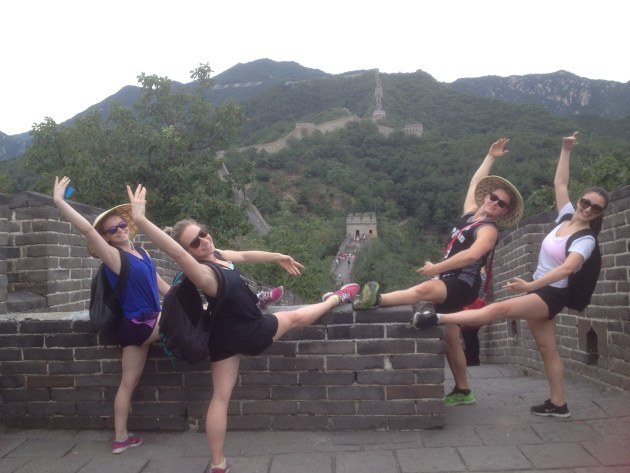 International tours were a feature of students' education. Here they are at the Great Wall of China in 2014.