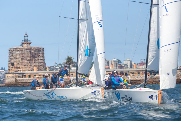 Excellent match racing training for the young teams