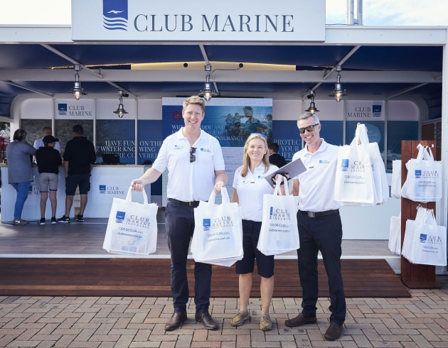 Club Marine has booked its spot in the Marine Village opposite the Main Pavilion.