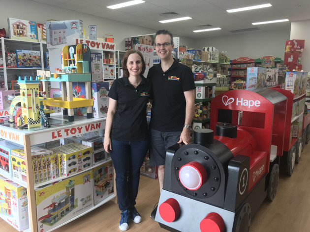 Kate and Craig Aitken - Founders and owners Knock on Wood Toys.
