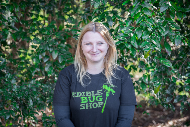 Skye Blackburn, Edible Bug Shop. Photo: Megann Evans