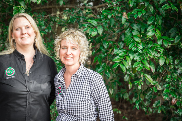 Michelle Amor and Tracey Rochford, Spiralz Fermented Foods. Photo: Megann Evans