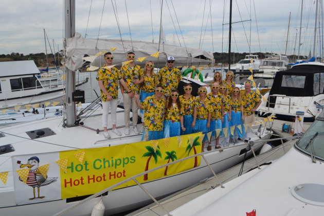 Crew of Hot Chipps - too hot to touch - pic courtesy John Chipp.
