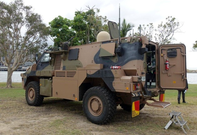One of two prototypes of an eventual 18 Bushmasters to be delivered under Project Currawong.