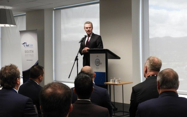 Minister for Defence Christopher Pyne opening the new centre in Adelaide. Credit: @cpyne