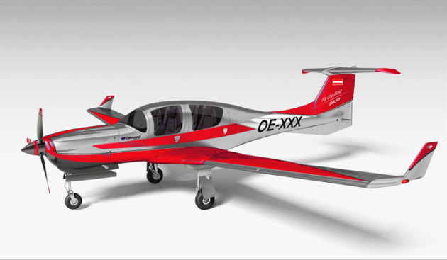 An artist's impression of the DA50 with CD300 engine and retractable gear. (Diamond Aircraft)