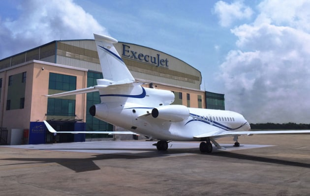 ExecuJet runs 27 FBO facilities around the world servicing 165 aircraft. (ExecuJet)