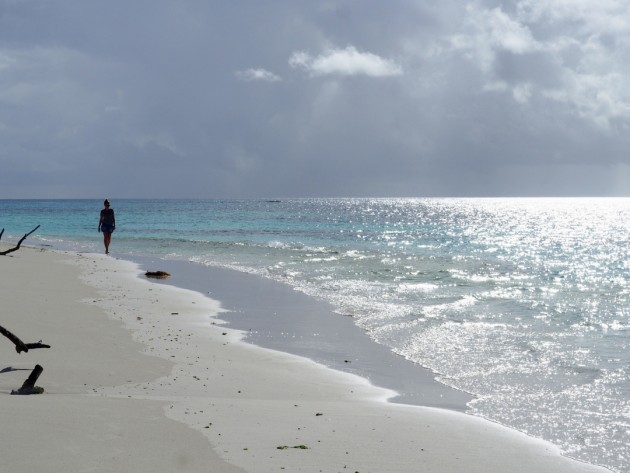 Deserted beaches on a palm-fringed island. Photo Mariner Boating Holidays.