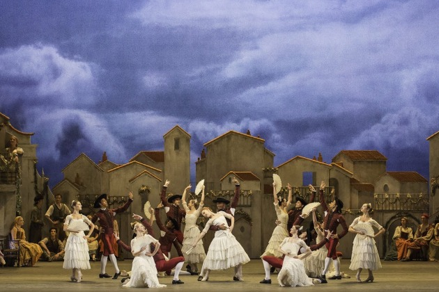 Artists of the Royal Ballet in Don Quixote. Photo: (c) ROH Johan Persson.