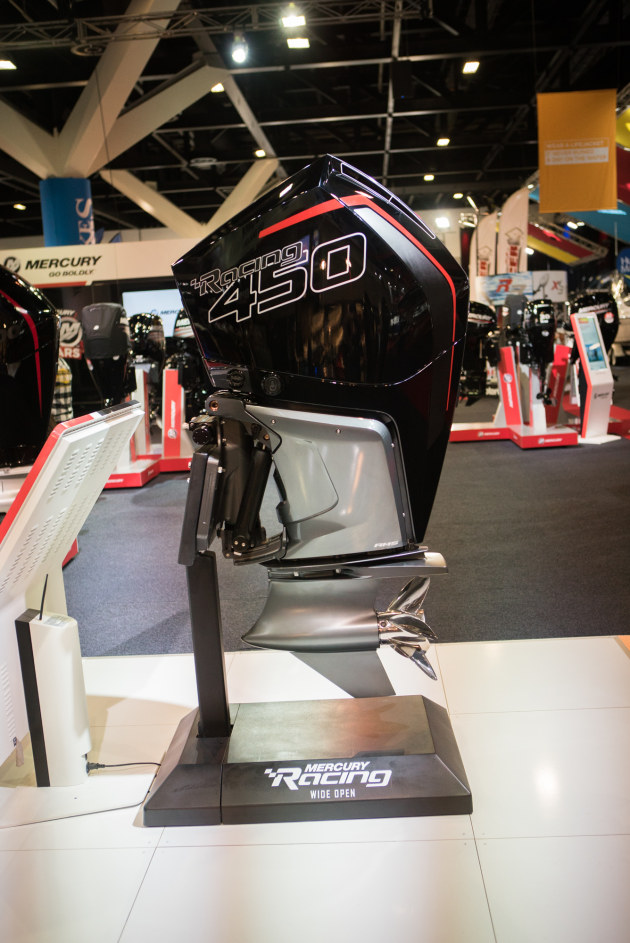 Two of the big releases at Sydney with the new Evinrude 115 H.O, 140, 150 and Mercury Racing's 450R.