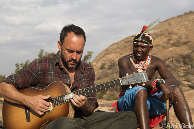 "Dave Matthews (@davematthewsband) plays his song ""Mother of Africa"" with his friend, Robert Lemaian, at Reteti Elephant Sanctuary (@r.e.s.c.u.e) in northern Kenya."