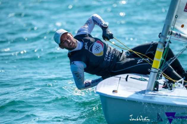 Philipp Buhl (GER) has sailed a remarkable first half of the Laser Standard World Championship regatta. Photo Jon West Photography.