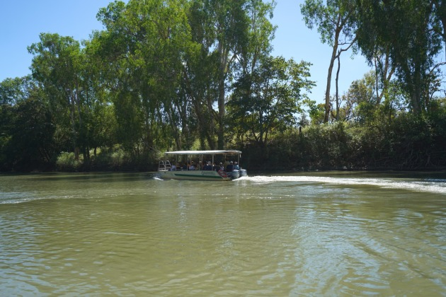 Exploring the East Alligator River on a guided boat tour.