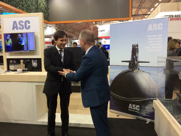 The Endel agreement with Martin Edwards, general manager Subarime Capability Development for ASC. Credit: ASC