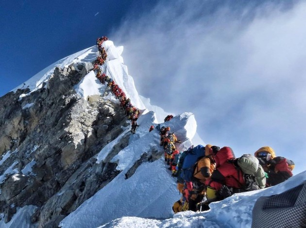 Climbing Everest. Pic: Nirmal Purja