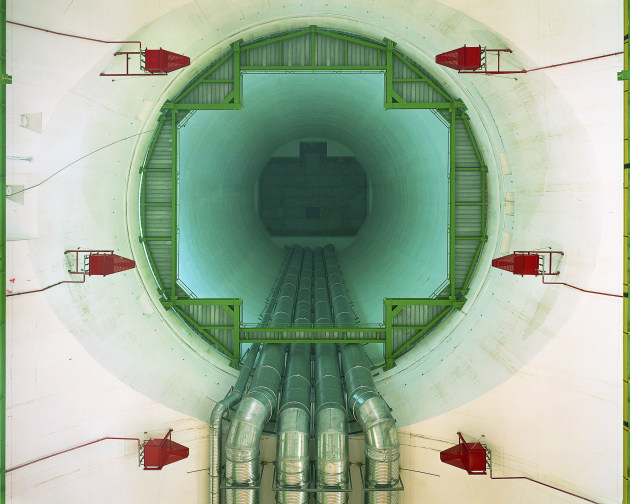 © Simon Norfolk. The Compact Muon Solenoid cavern part of the Large Hadron Collider at CERN in Geneva 2010, type C photograph, 101.6 x 127 x 2.2 cm. Courtesy of the artist.