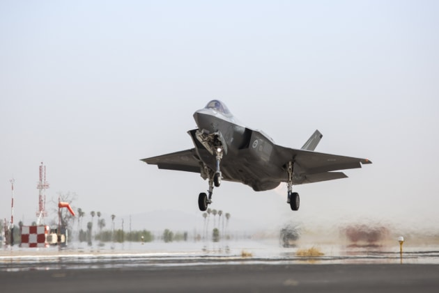 An Australian F-35A aircraft takes off on a training mission at Luke Air Force Base, Arizona, USA. Defence