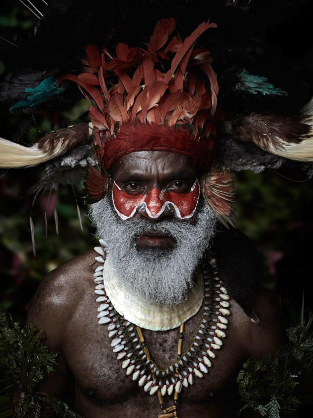 © Sando Miller. Fabian, a tribesman from the series, I Am Papua New Guinea, 2016.