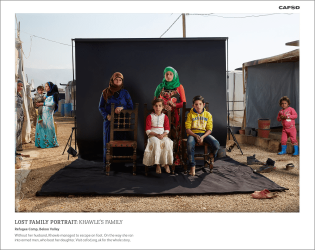 Khawle's family, Bekaa Valley, Lebanon, from the series, Lost Family Portraits. © Dario Mitidieri.