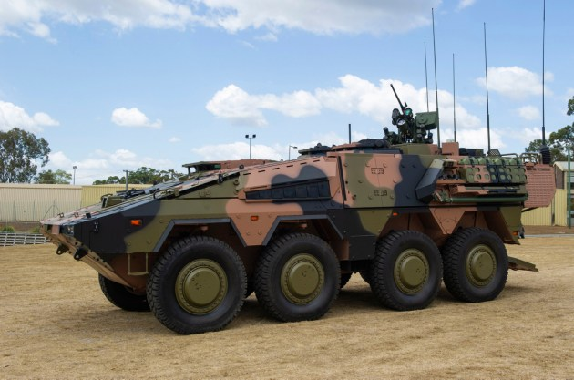 The first Boxer combat reconnaissance vehicle delivered to Army.