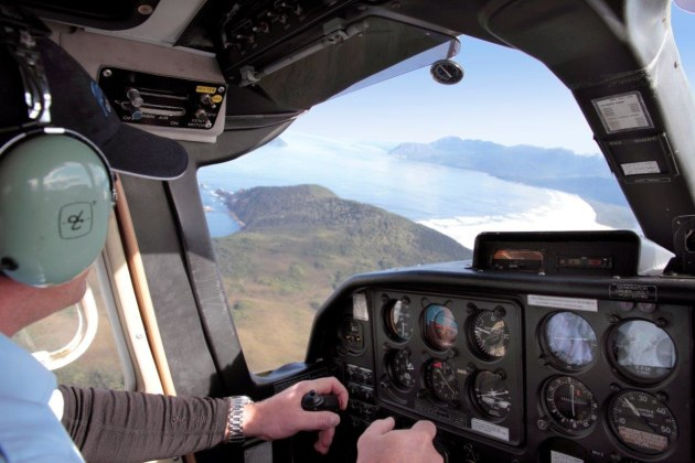 A scenic flight over southern Tasmania.