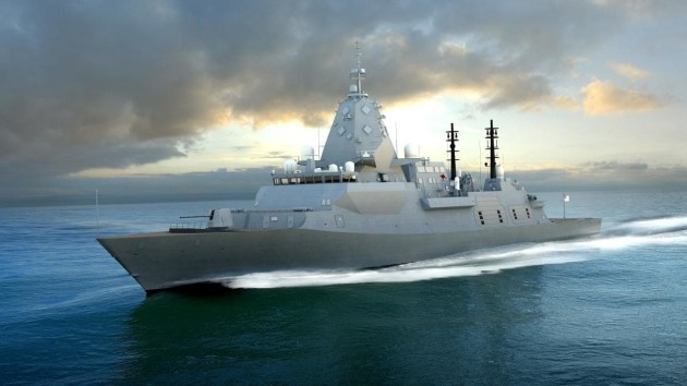 Global Combat Ship mock up