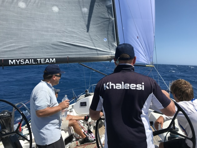 Glamour weather crossing Bass Strait on Khaleesi in the 2017 Sydney to Hobart. Photo Mysail.