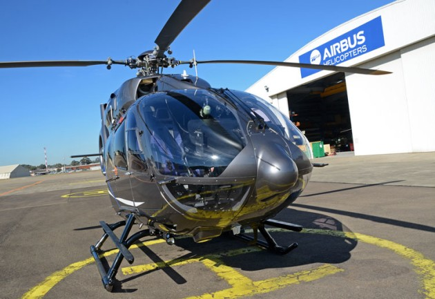 Airbus Helicopters' H145 outside the company's Bankstown base. (Steve Hitchen)