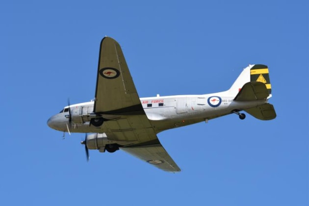 The Historical Aircraft Restoration Society (HARS) operated their ARDU-schemed DC3. (Steve Hitchen)