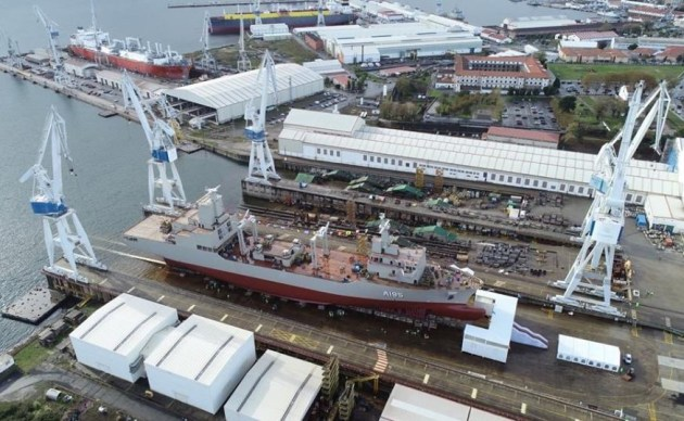 NUSHIP Supply at Navantia's Ferrol shipyard. Credit: Navantia