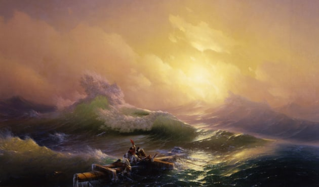 The Ninth Wave by Ivan Aivazovsky. Image credits: Public Domain.