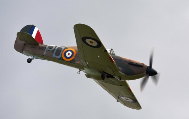 The Hurricane swoops in for a low pass. (Steve Hitchen)