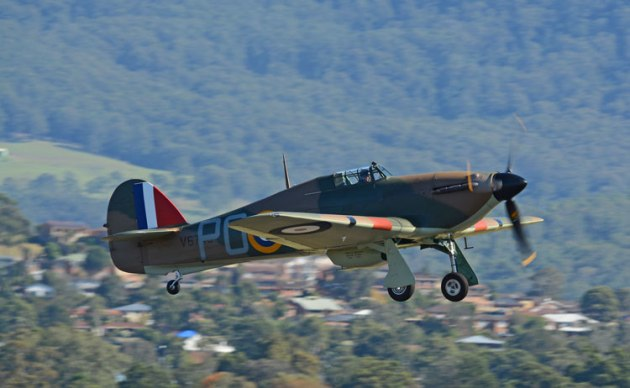 Ross Pay's Hawker Hurricane will fly at Wings over Illawarra 2019. (Steve Hitchen)