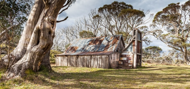 The famous Wallace's Hut, near Falls Creek, High Country, Victoria