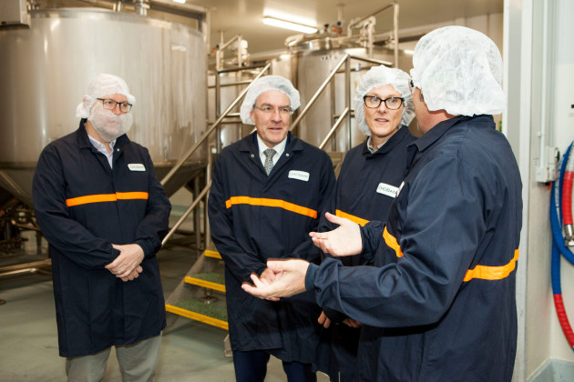 Australian Food and Grocery Council CEO, Tanya Barden, and Mark Dreyfuss, MP, visiting the Chobani plant.