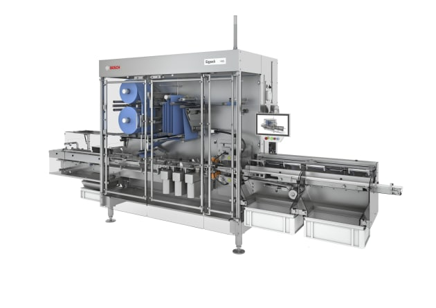 Whether as a stand-alone solution or integrated into a line, Bosch's new horizontal flow wrapping machine ensures flexible processes and absolutely safe hermetic packages. (Picture: Bosch)