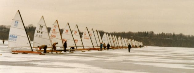 Ice boats in the 1960s.