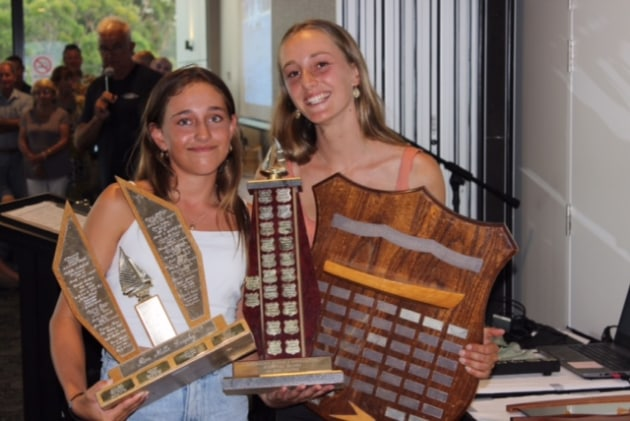 Zoe Dransfield and Pearl Twomey, sailing 'Nomad', are the new Australian Flying 11 Champions.