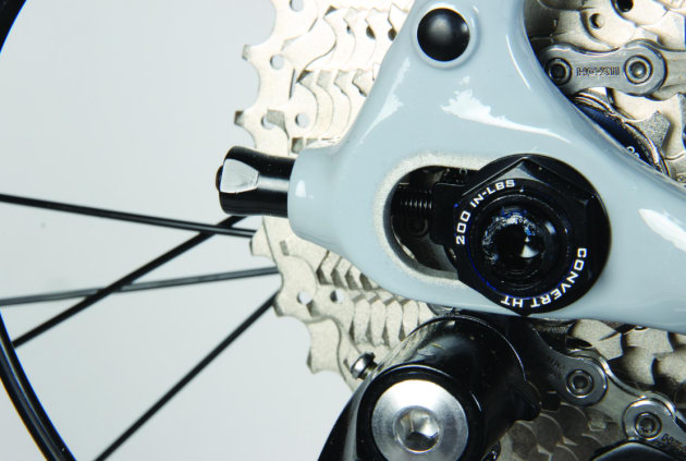 Trek's 'Stranglehold' dropout enables chain tensioning for a singlespeed build.