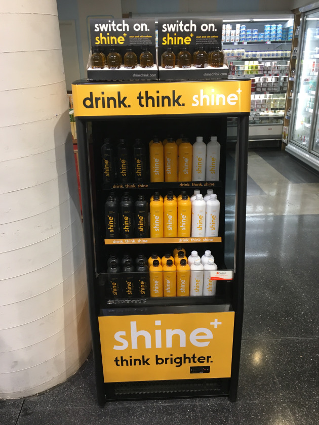 "PIDA 2019 Finalist, Beverage: Shine Drink for its custom tall and thin 400ml bottle, which conjures ""thoughts of health and wellbeing"" through bottle shape and the shrink sleeve label design."