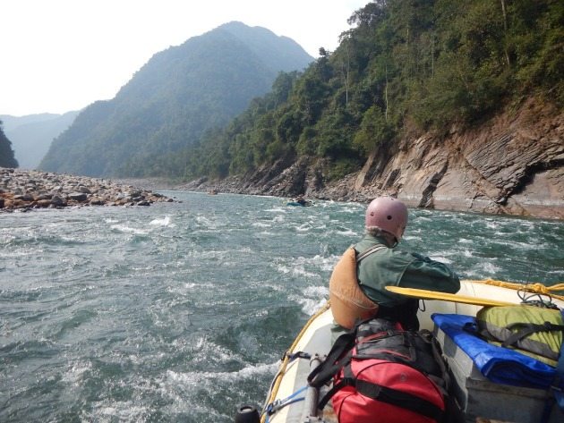 Whitewater rafting down the Himalayan rivers in search of the Golden Mahseer.