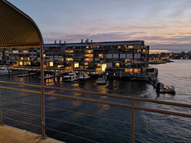 A handheld low-light shot from Sydney harbour.