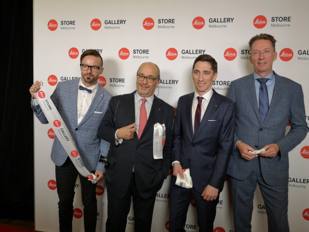 L to R: Boris Bender (Global Head of Retail Design, Leica Camera AG), Dr Andreas Kaufmann (Chairman of the Supervisory Board, Leica AG), Ryan Williams (Managing Director, Leica Camera Australia Pty Ltd), Ronald Marcel Peters (Chief Financial Officer, Leica Camera AG).