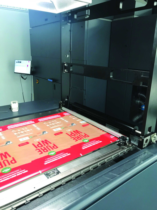Printed film for pouches on the HP Indigo 20000 Digital Press at Read Labels & Packaging.