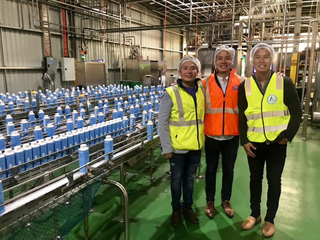 Taking the leap: The Tan brothers, co-directors of Victorian company Slades Beverages, co-packer for JUST Water.