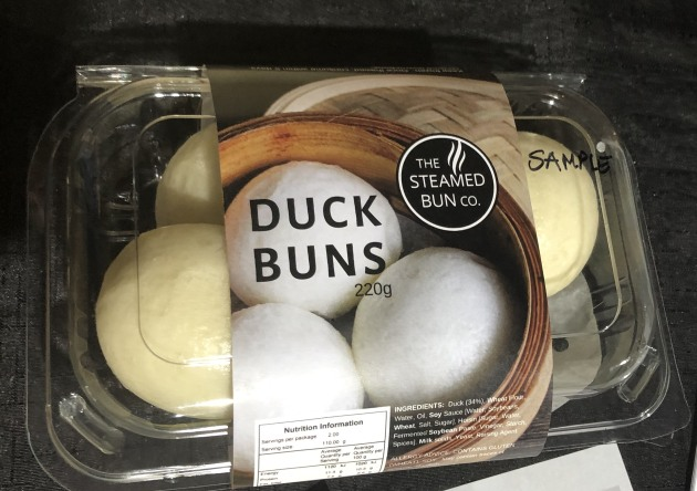 Duck Buns made by Megan Dean's Steamed Bun Co for the retail market.